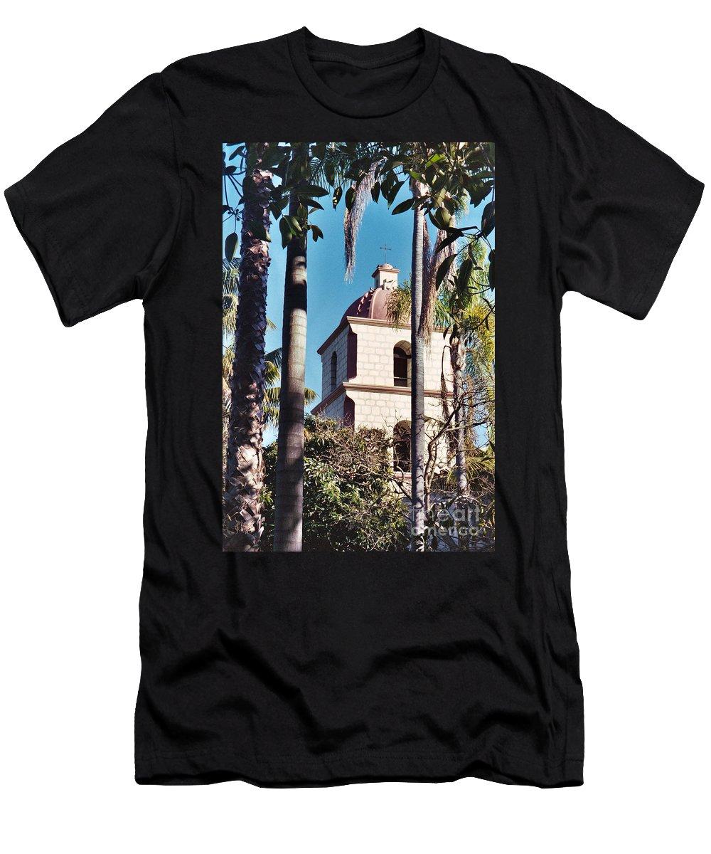 California Men's T-Shirt (Athletic Fit) featuring the photograph Santa Barbara by Flamingo Graphix John Ellis