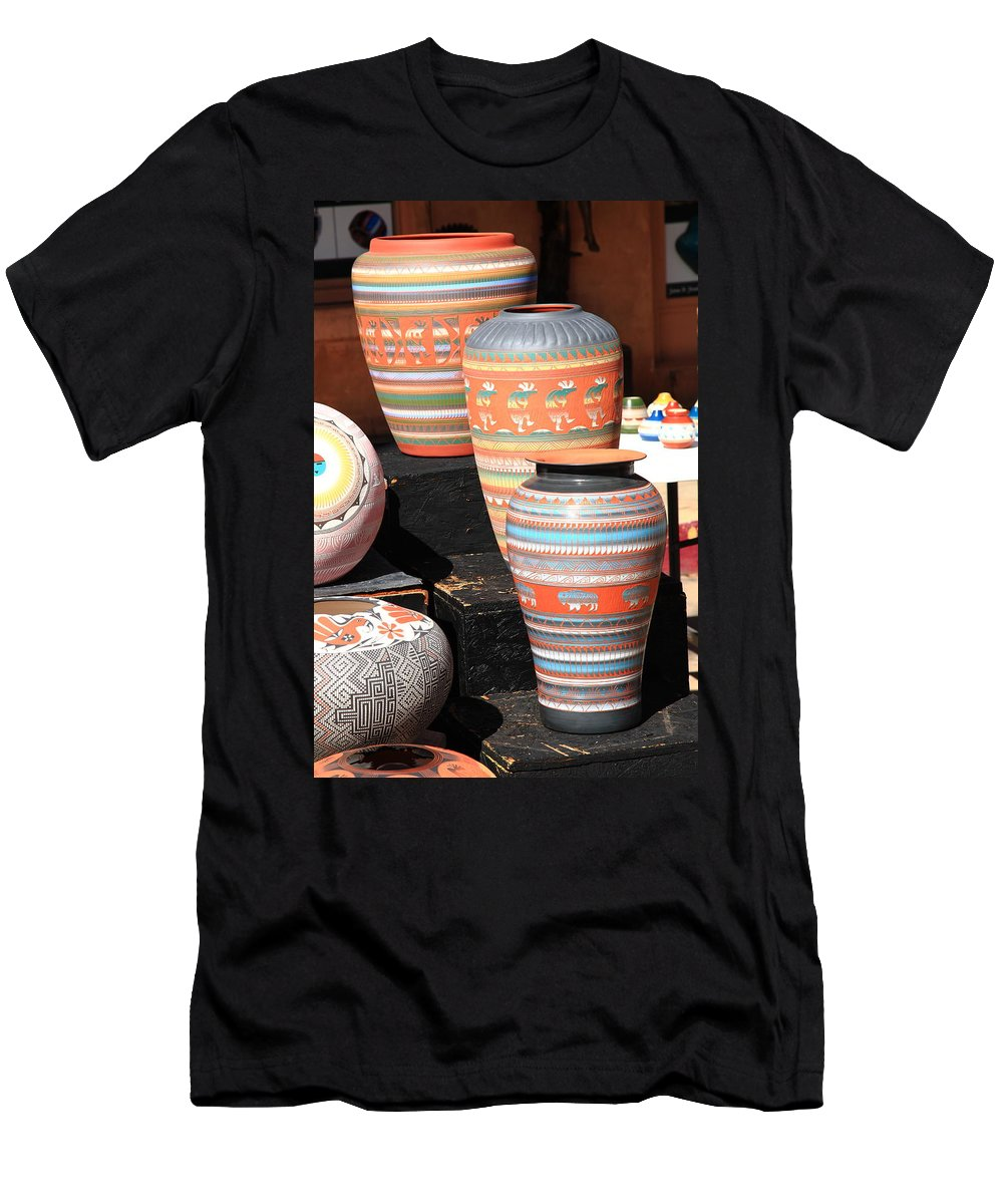 America Men's T-Shirt (Athletic Fit) featuring the photograph Santa Fe Pottery by Frank Romeo