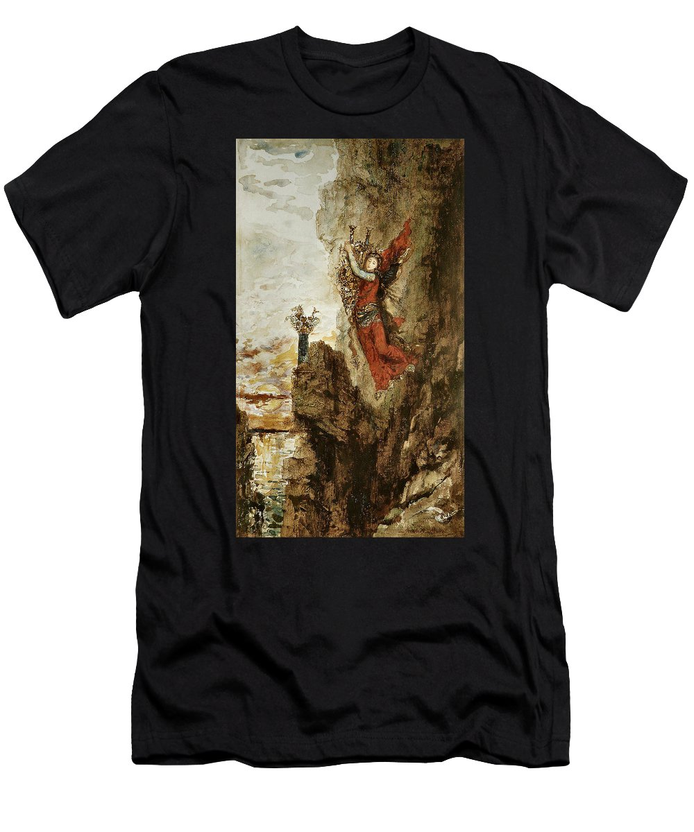 Gustave Moreau Men's T-Shirt (Athletic Fit) featuring the painting Sappho In Lefkada by Gustave Moreau