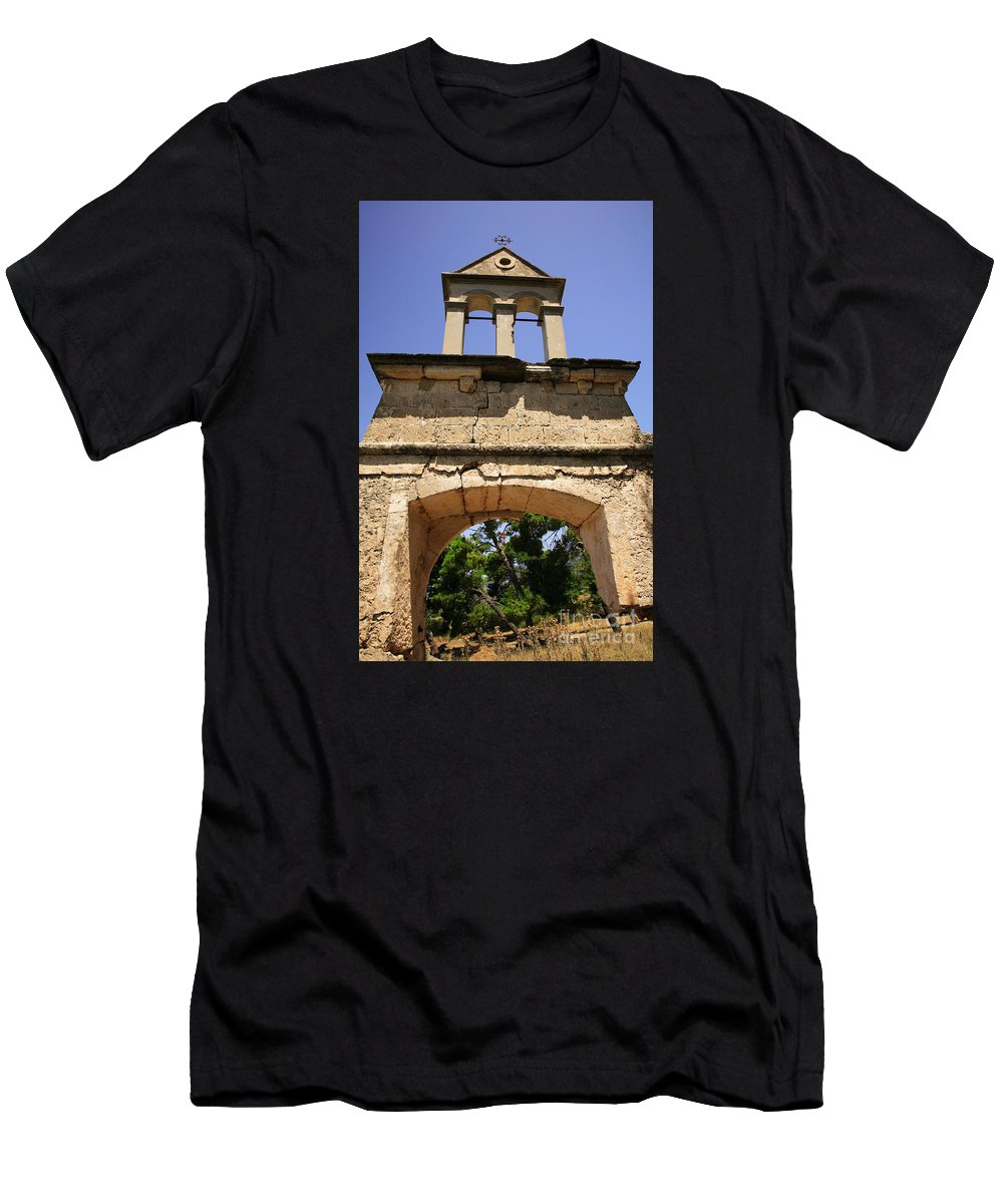 1953 Men's T-Shirt (Athletic Fit) featuring the photograph Sassia Monastery Bell Tower by Deborah Benbrook