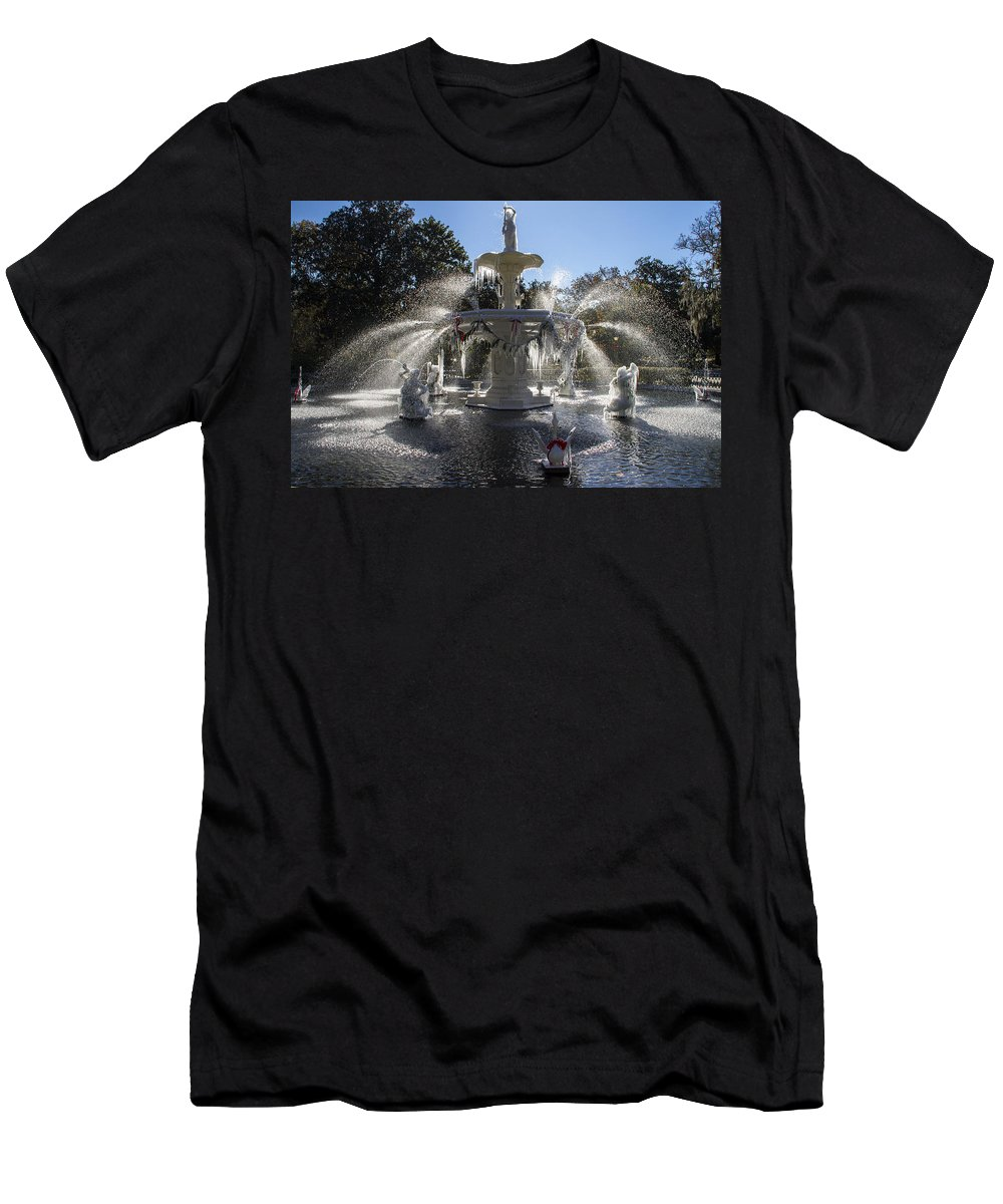 Frost Men's T-Shirt (Athletic Fit) featuring the photograph Savannah Winter Dream by For Ninety One Days