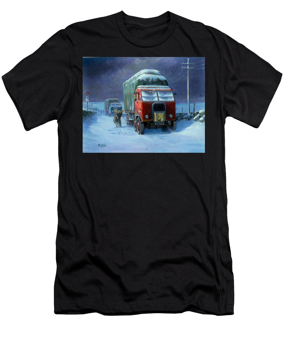 Commission A Painting Men's T-Shirt (Athletic Fit) featuring the painting Scammell R8 by Mike Jeffries