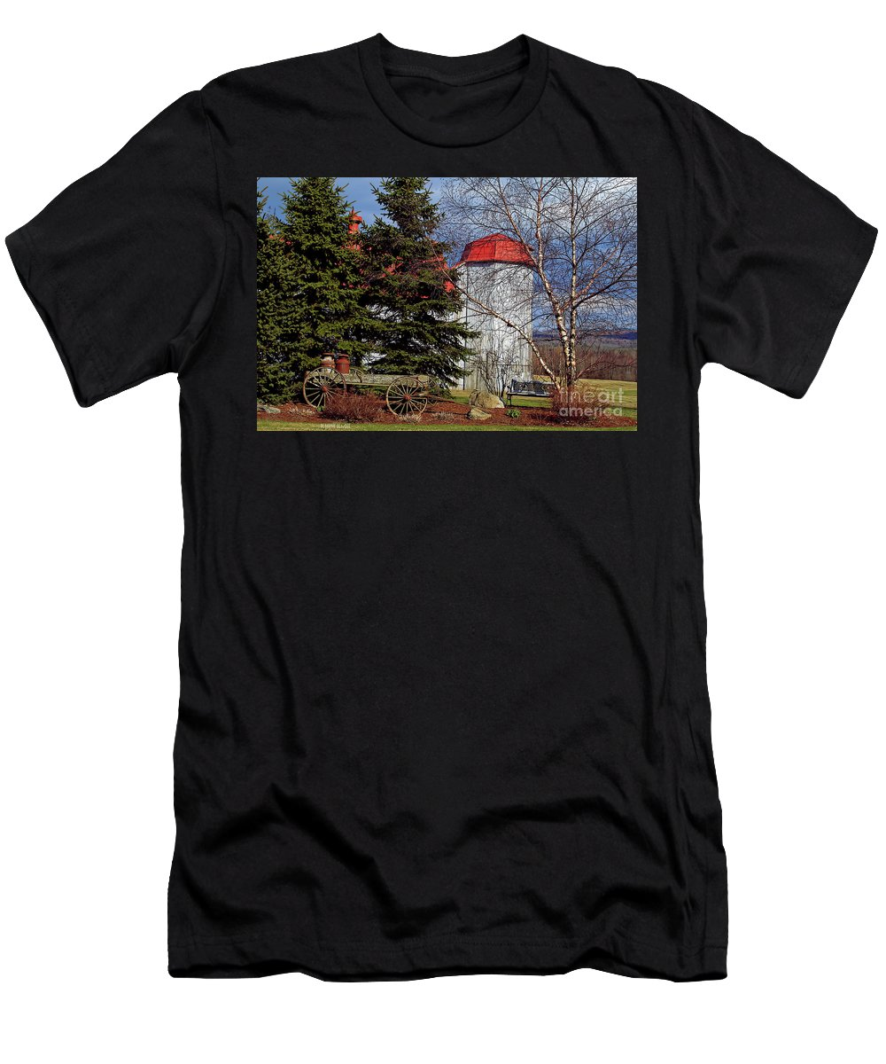 Vermont Men's T-Shirt (Athletic Fit) featuring the photograph Scene In Vermont by Deborah Benoit