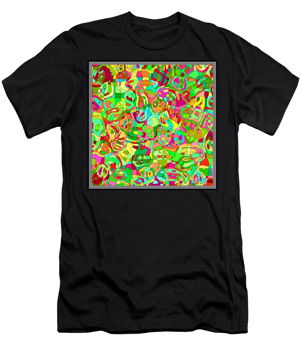 Abstract Men's T-Shirt (Athletic Fit) featuring the digital art Scribble... by Tim Fillingim