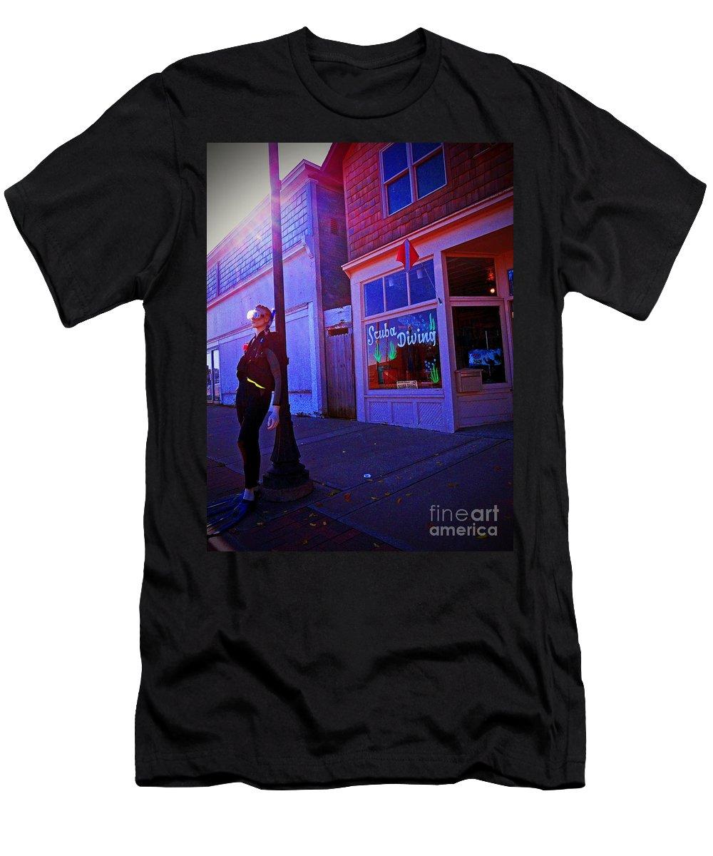 Scuba Men's T-Shirt (Athletic Fit) featuring the photograph Scuba Shop by Desiree Paquette