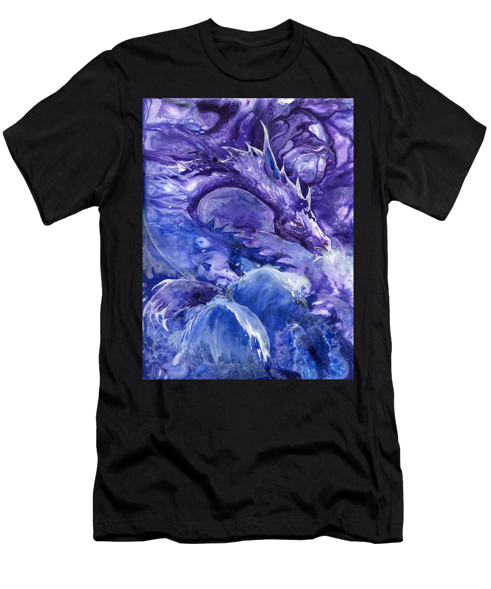Dragon Men's T-Shirt (Athletic Fit) featuring the painting Sea Dragon by Sherry Shipley