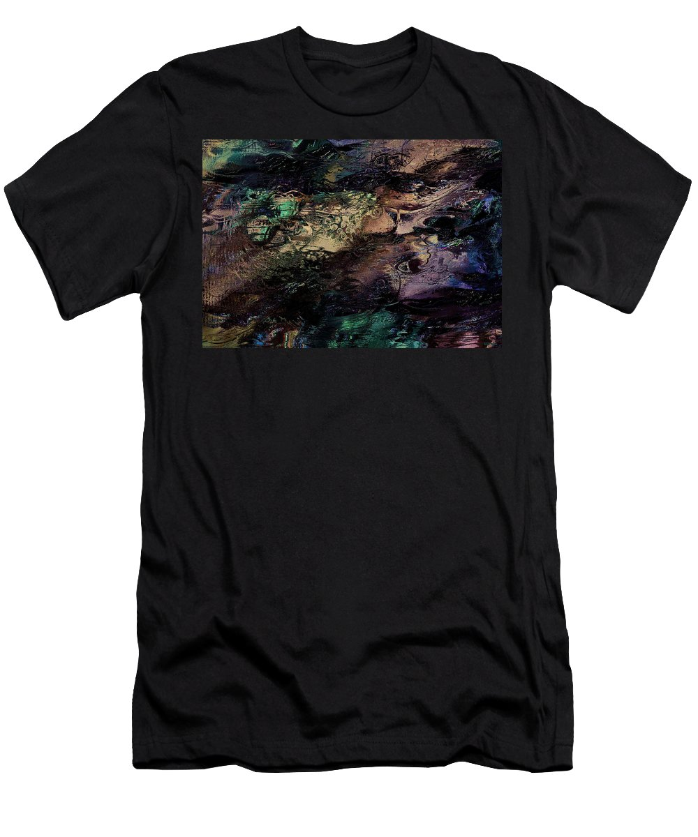 Abstract Men's T-Shirt (Athletic Fit) featuring the mixed media Sea Life by Natalie Holland
