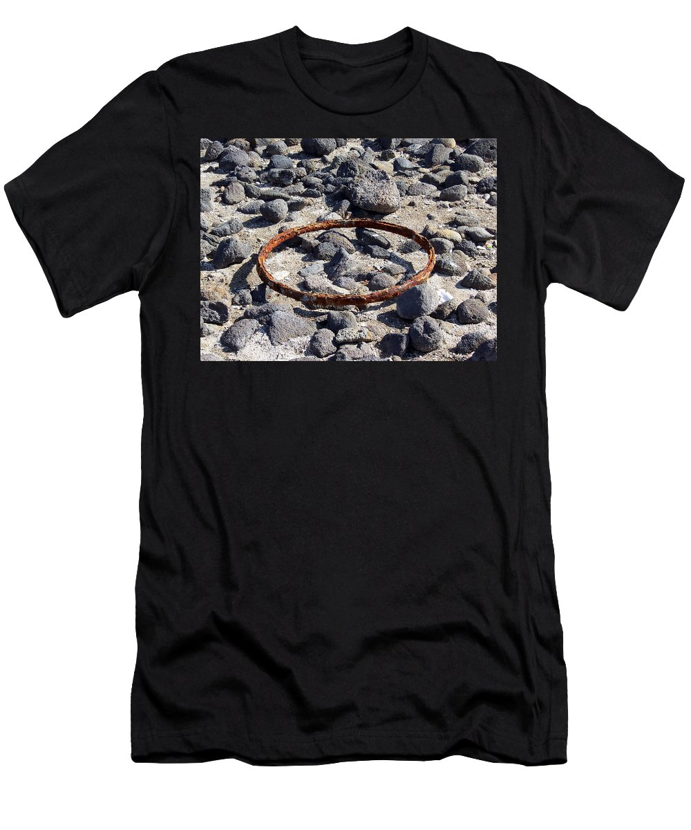Sea Of Galilee Men's T-Shirt (Athletic Fit) featuring the photograph Sea Of Galilee Shoreline At Tabgha by David T Wilkinson