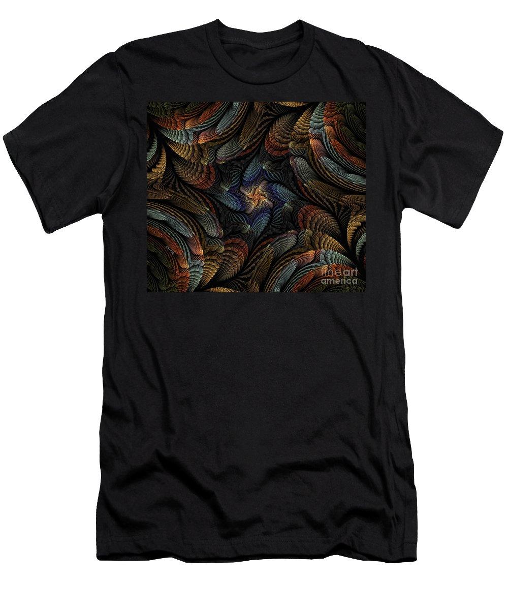 sea Shells Men's T-Shirt (Athletic Fit) featuring the digital art Sea Shells by Shari Nees
