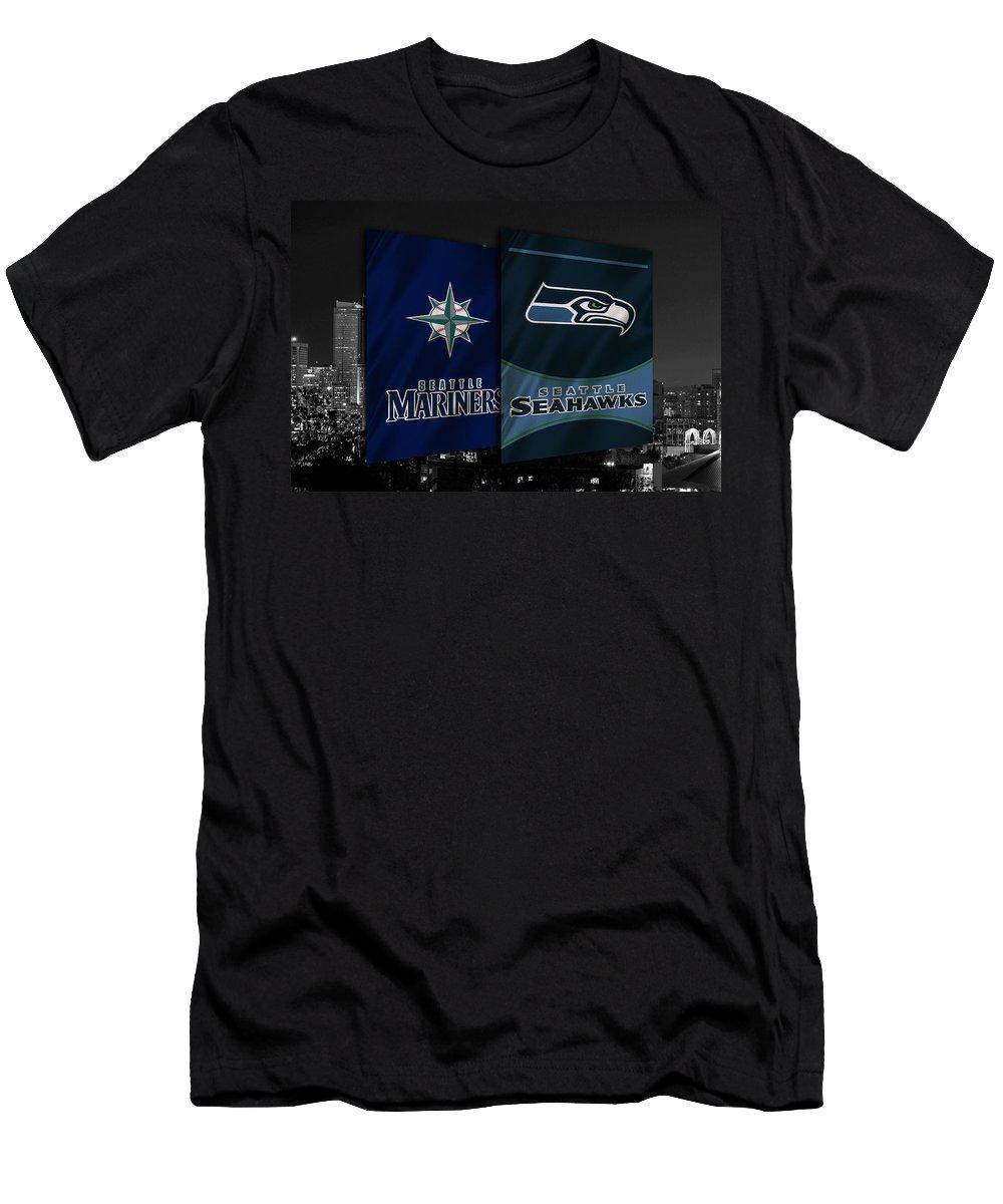 Seahawks T-Shirt featuring the photograph Seattle Sports Teams by Joe Hamilton