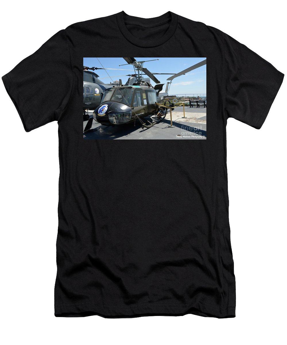 Uh-1 Huey Men's T-Shirt (Athletic Fit) featuring the photograph Seawolves Uh-1 by Tommy Anderson