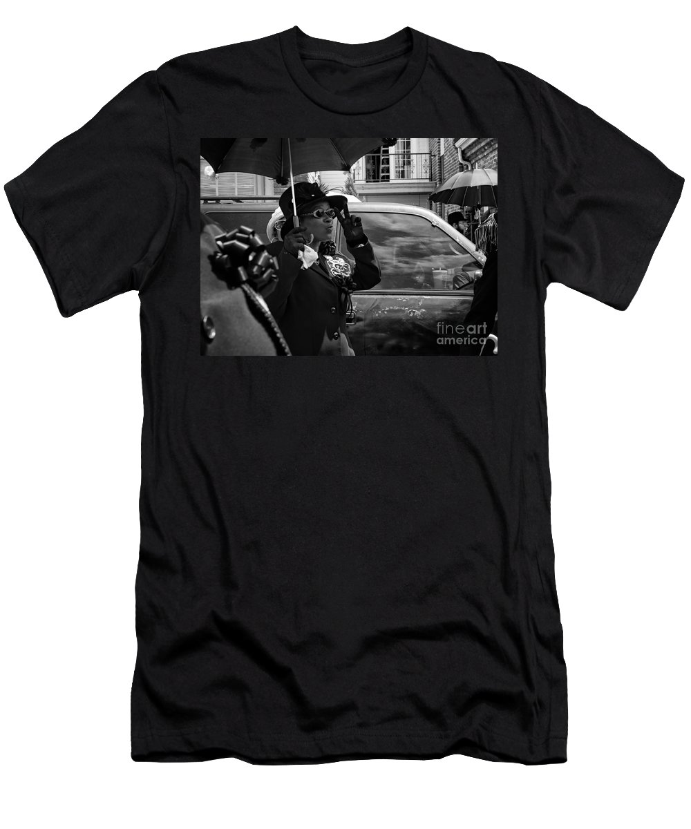 Peace Men's T-Shirt (Athletic Fit) featuring the photograph Second Line Peace by Mary Smyth