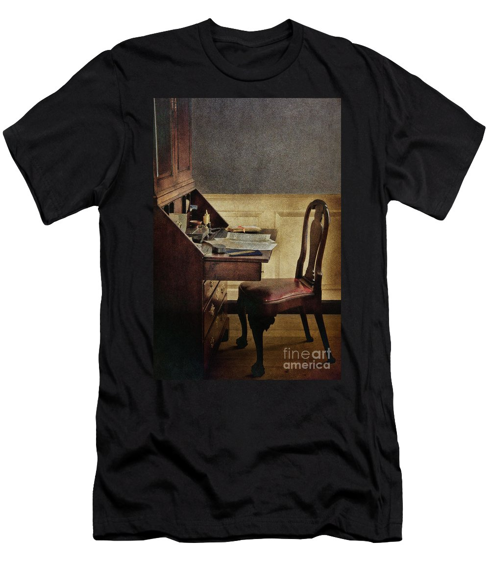 Interior Men's T-Shirt (Athletic Fit) featuring the photograph Secretary by Margie Hurwich