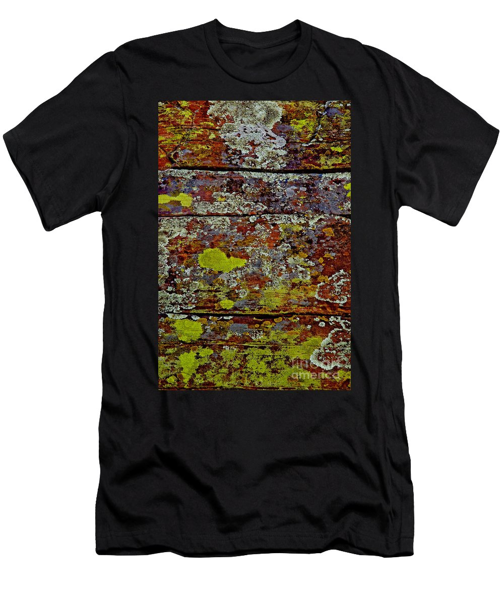 Sedona Carpet Photograph Is Of Lichen Growing On Rocks Men's T-Shirt (Athletic Fit) featuring the photograph Sedona Carpet by Mae Wertz