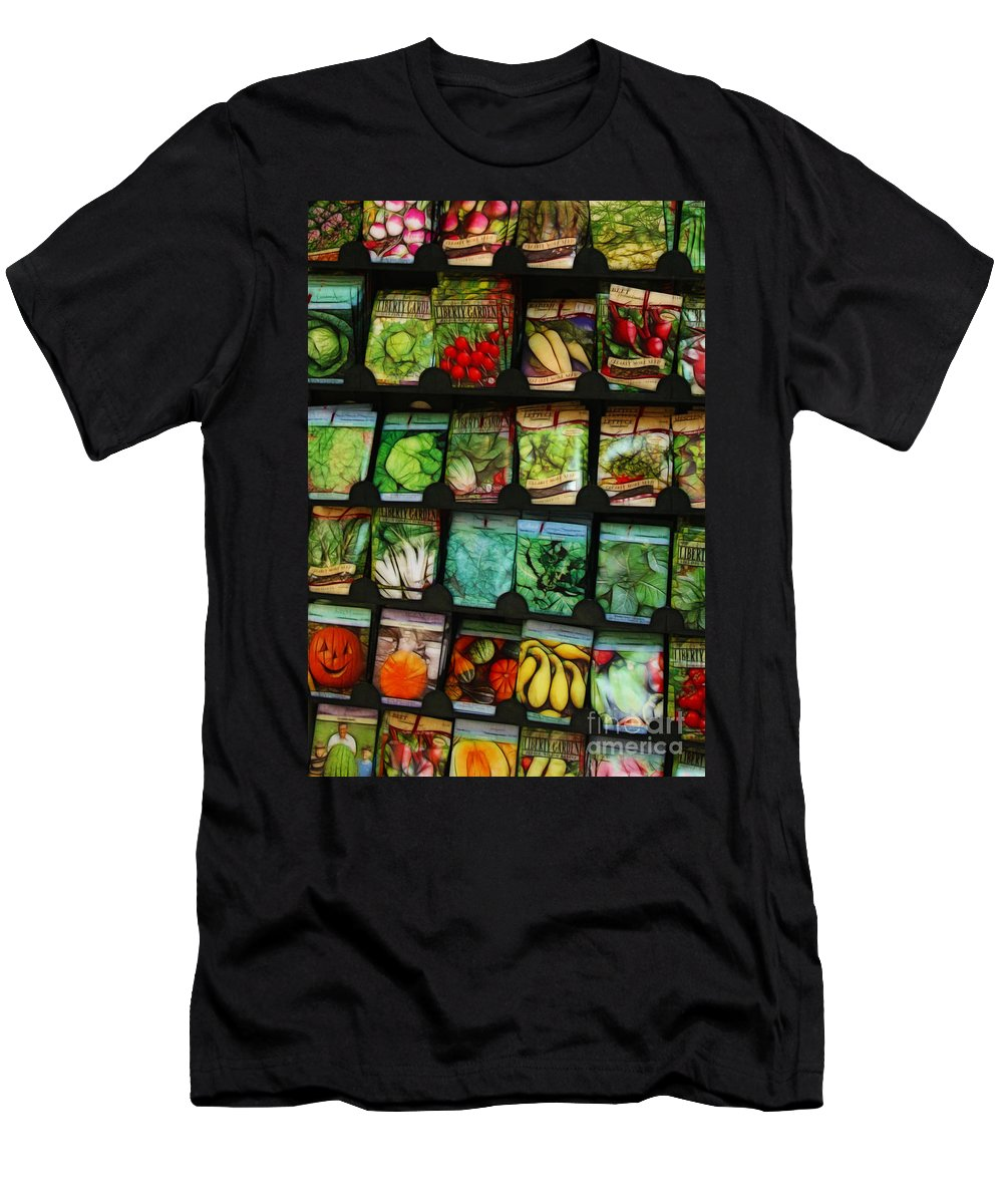 Seed Men's T-Shirt (Athletic Fit) featuring the photograph Seed Packets by Judi Bagwell