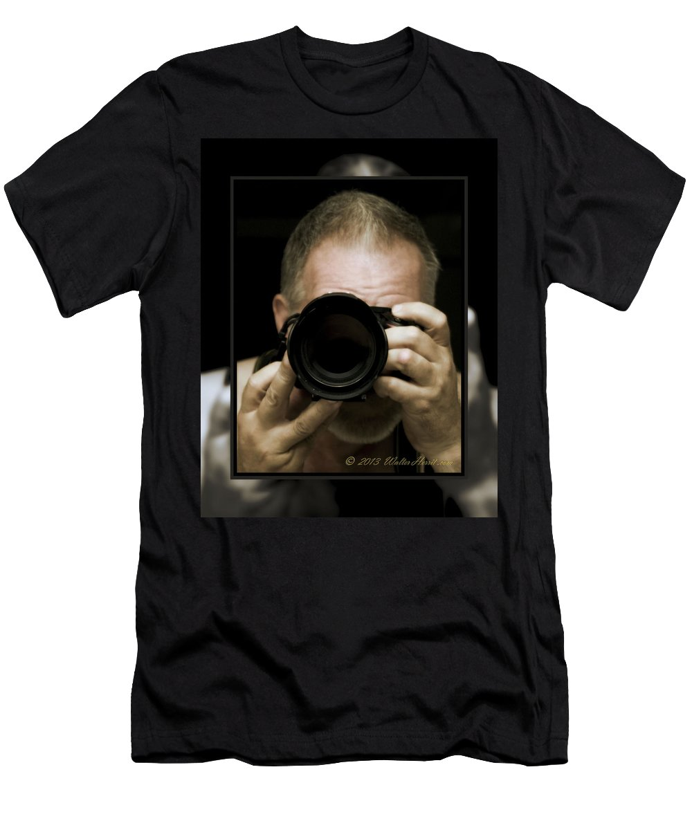 Self - Portrait Men's T-Shirt (Athletic Fit) featuring the photograph Self - Portrait 3 by Walter Herrit
