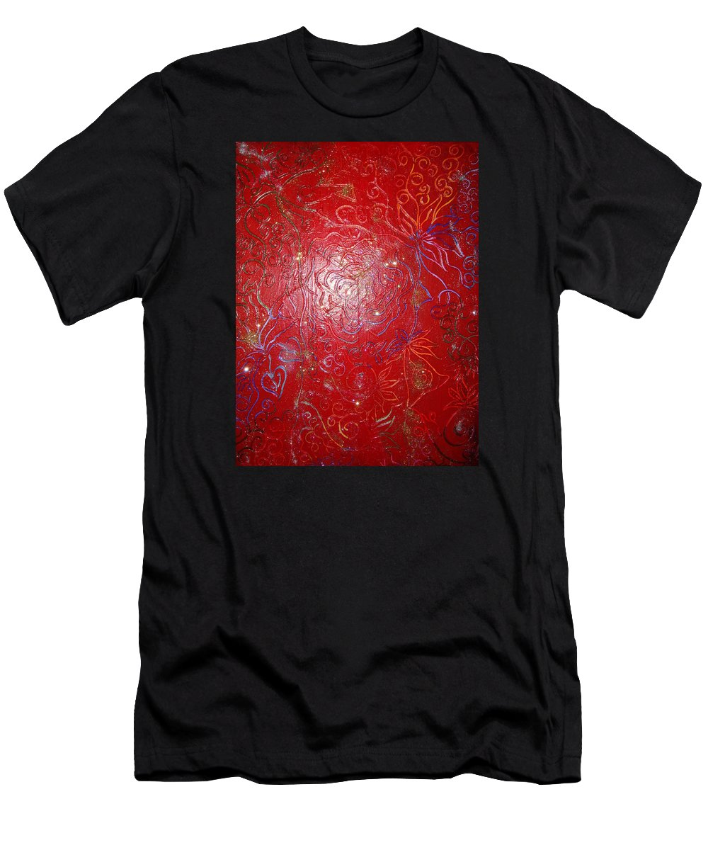 Art Therapy Men's T-Shirt (Athletic Fit) featuring the painting Self Believe by Joanna Pilatowicz