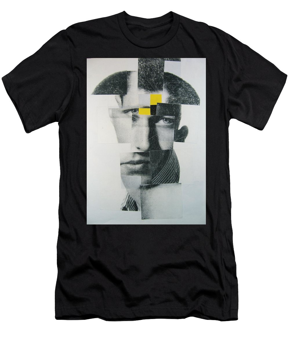 Abstract Portrait Men's T-Shirt (Athletic Fit) featuring the painting When I Was Young I Was So Much Older Then - Im Younger Then That Now by Cliff Spohn