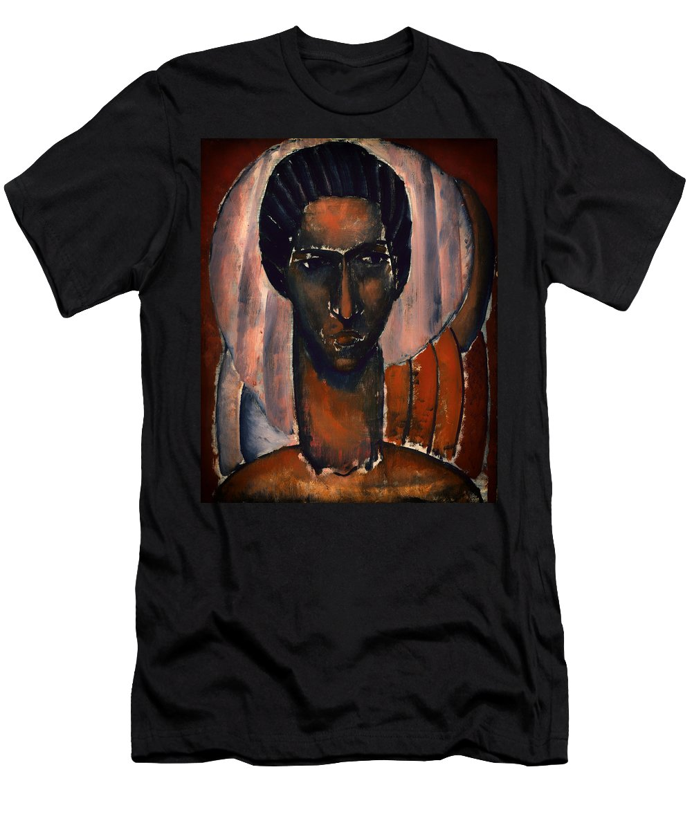 Painting Men's T-Shirt (Athletic Fit) featuring the painting Self Portrait by Mountain Dreams