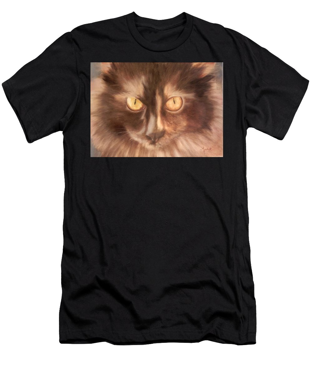 Animal Men's T-Shirt (Athletic Fit) featuring the painting Selini The Siberian by Ageliki