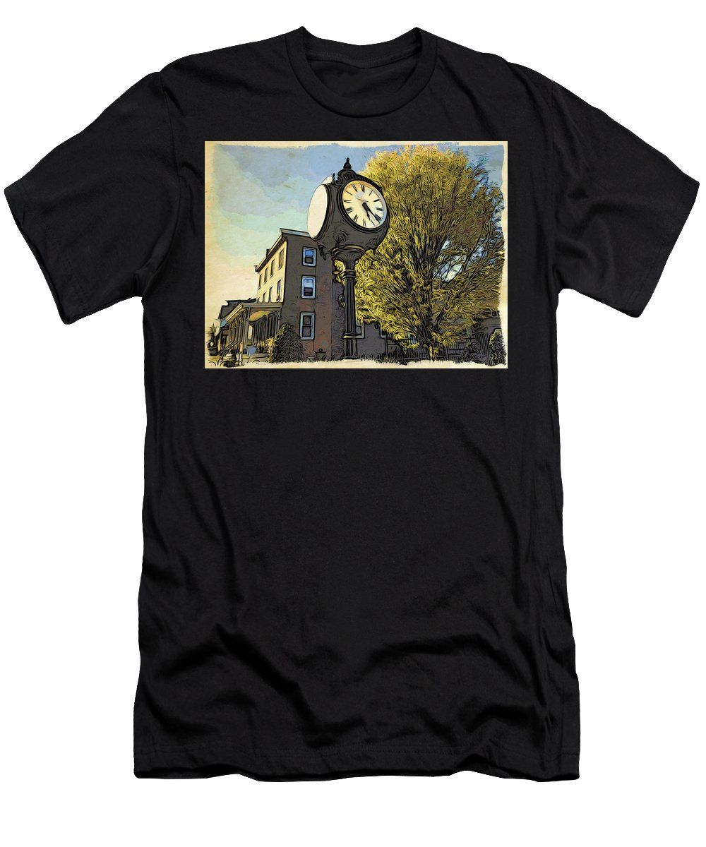 Sellersville Men's T-Shirt (Athletic Fit) featuring the photograph Sellersville Time by Alice Gipson