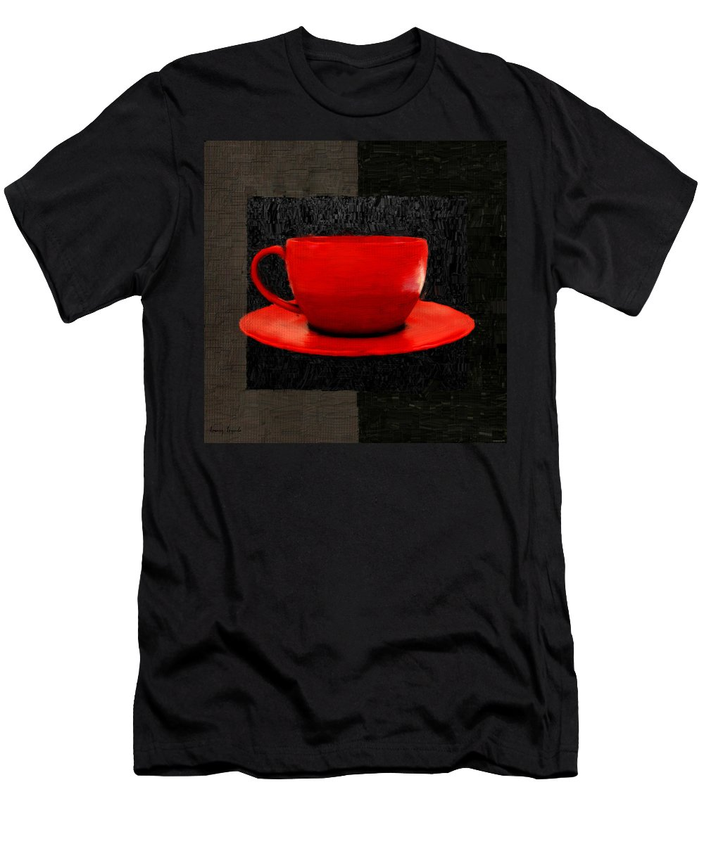 Coffee Men's T-Shirt (Athletic Fit) featuring the digital art Sensuality by Lourry Legarde