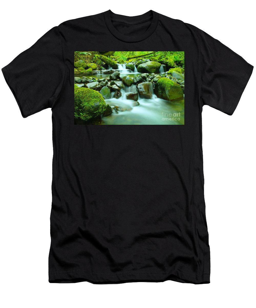 Water Men's T-Shirt (Athletic Fit) featuring the photograph September Stream by Jeff Swan