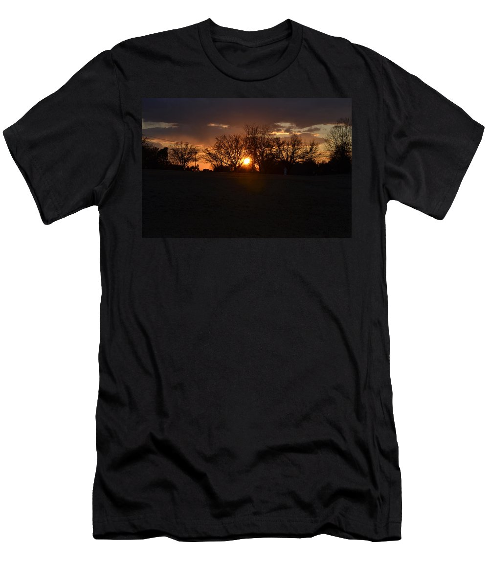 Sunset Men's T-Shirt (Athletic Fit) featuring the photograph Serene Sunset by Tara Potts