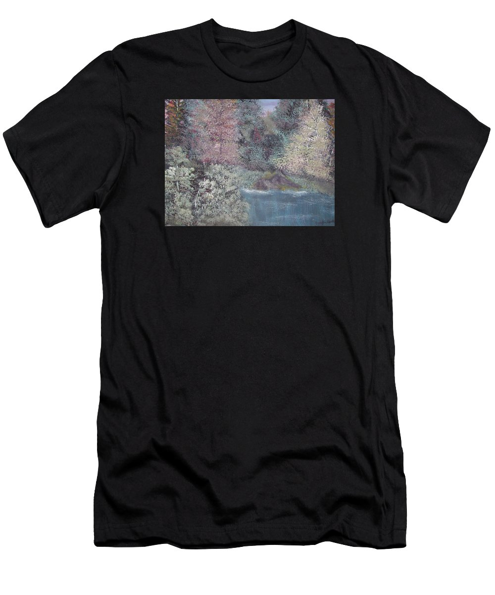Landscapes Men's T-Shirt (Athletic Fit) featuring the painting Serenity by Dawn Randle