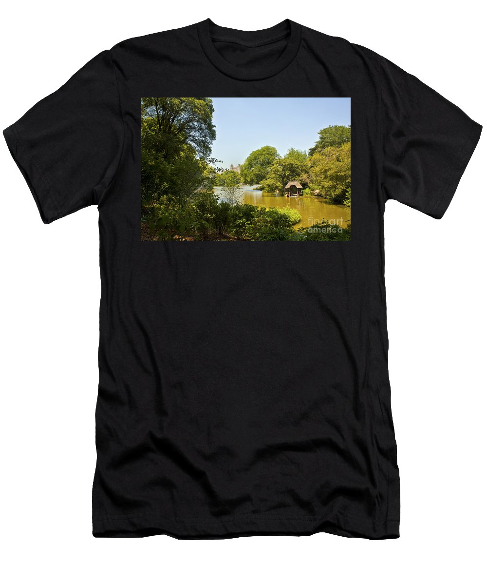 Pond Men's T-Shirt (Athletic Fit) featuring the photograph Serenity II by Madeline Ellis