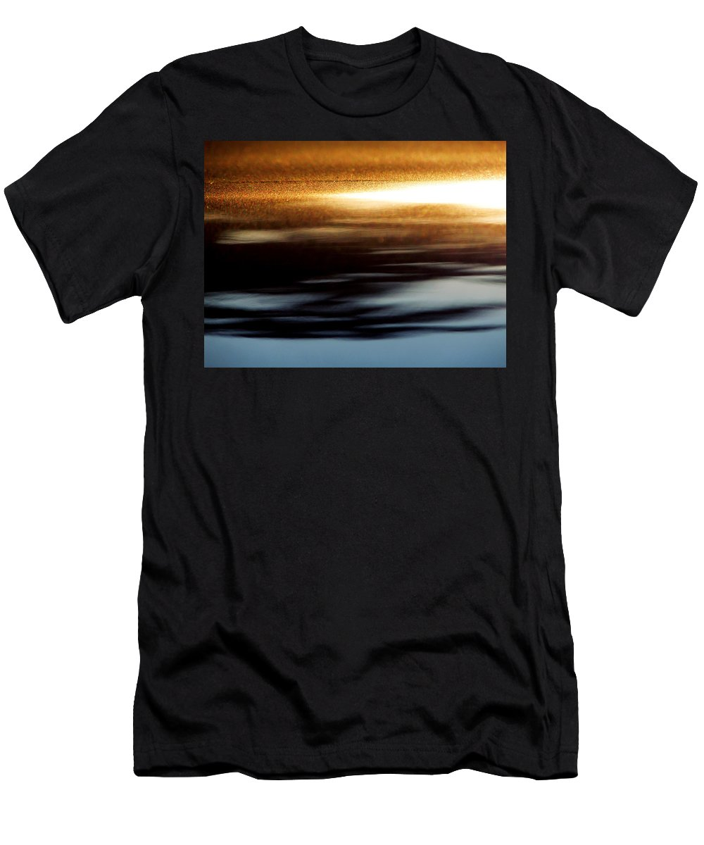 Gray Men's T-Shirt (Athletic Fit) featuring the photograph Setting Sun by Prakash Ghai