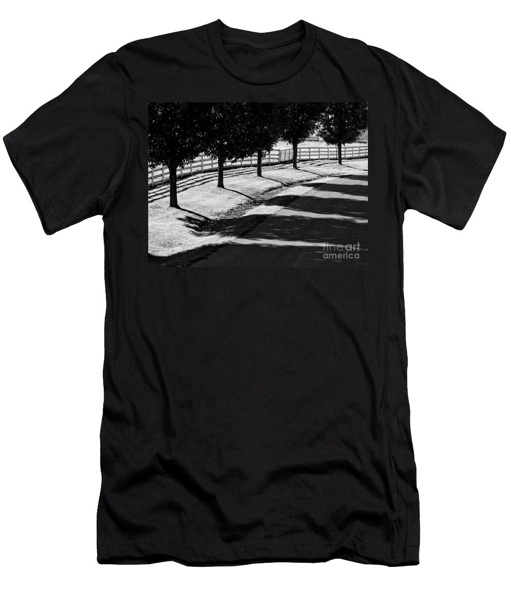 Bw Men's T-Shirt (Athletic Fit) featuring the photograph Shadow Patterns by Claudia Kuhn