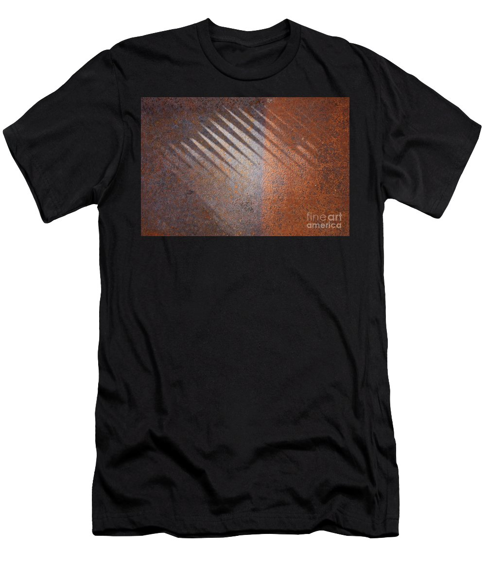 Rust T-Shirt featuring the photograph Shadows and Rust by Carol Groenen