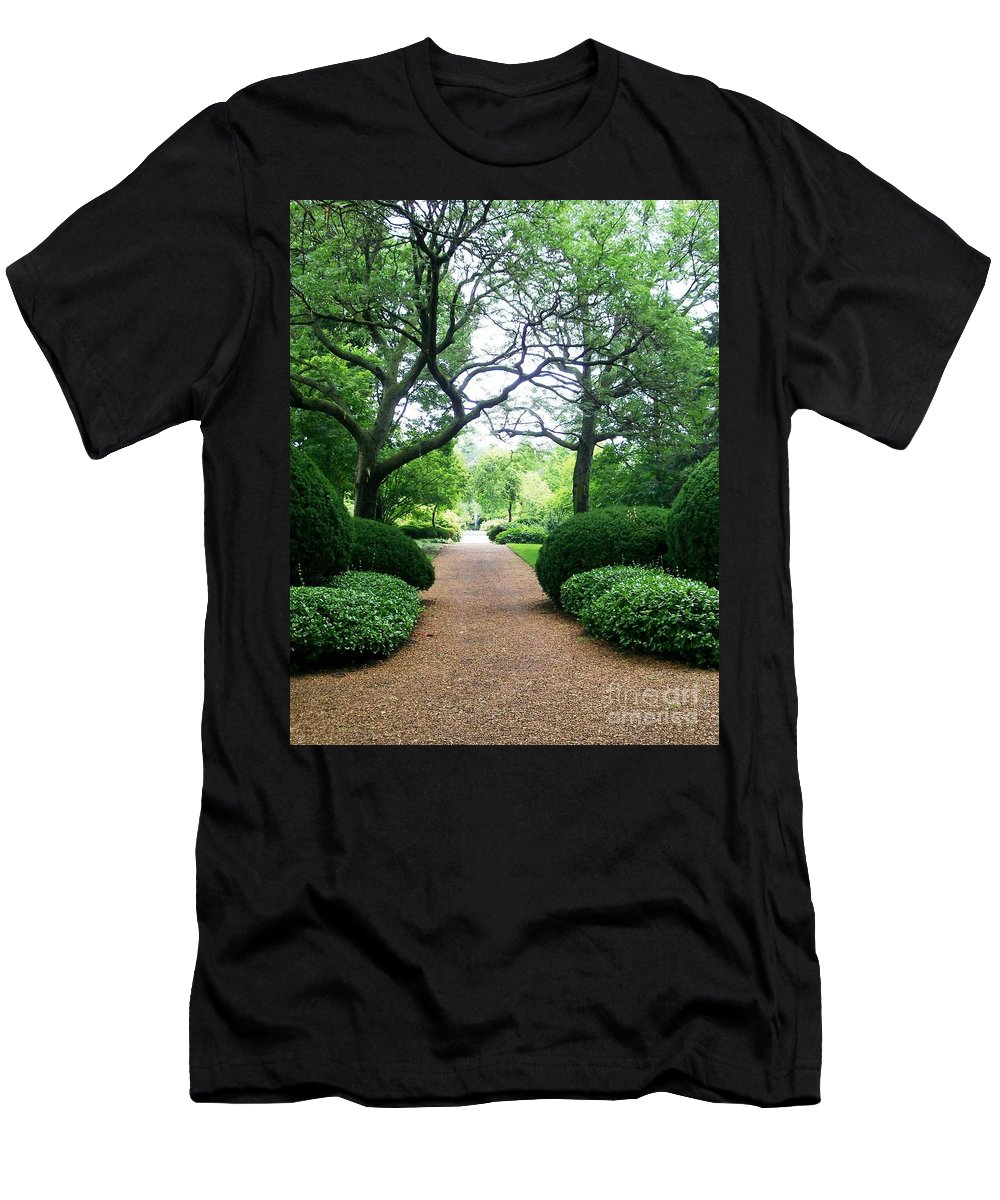 Invitation Men's T-Shirt (Athletic Fit) featuring the photograph Shady Path by Laurie Eve Loftin