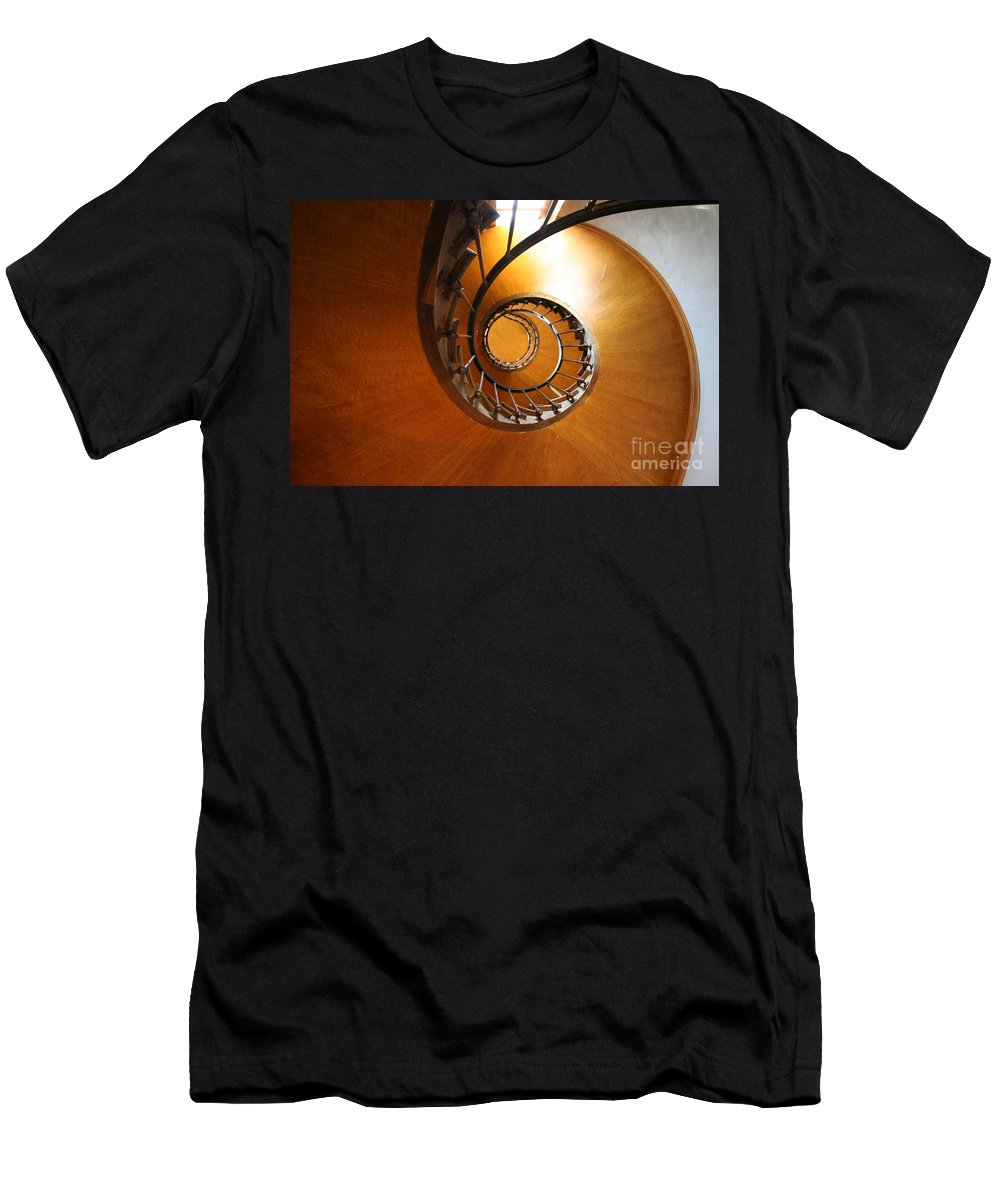 Staircase Men's T-Shirt (Athletic Fit) featuring the photograph Shaft Staircase by Christiane Schulze Art And Photography