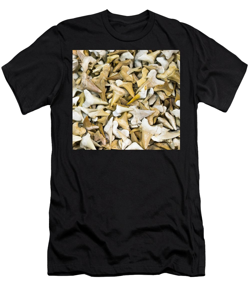 Gems Men's T-Shirt (Athletic Fit) featuring the photograph Sharks Teeth by Steven Ralser