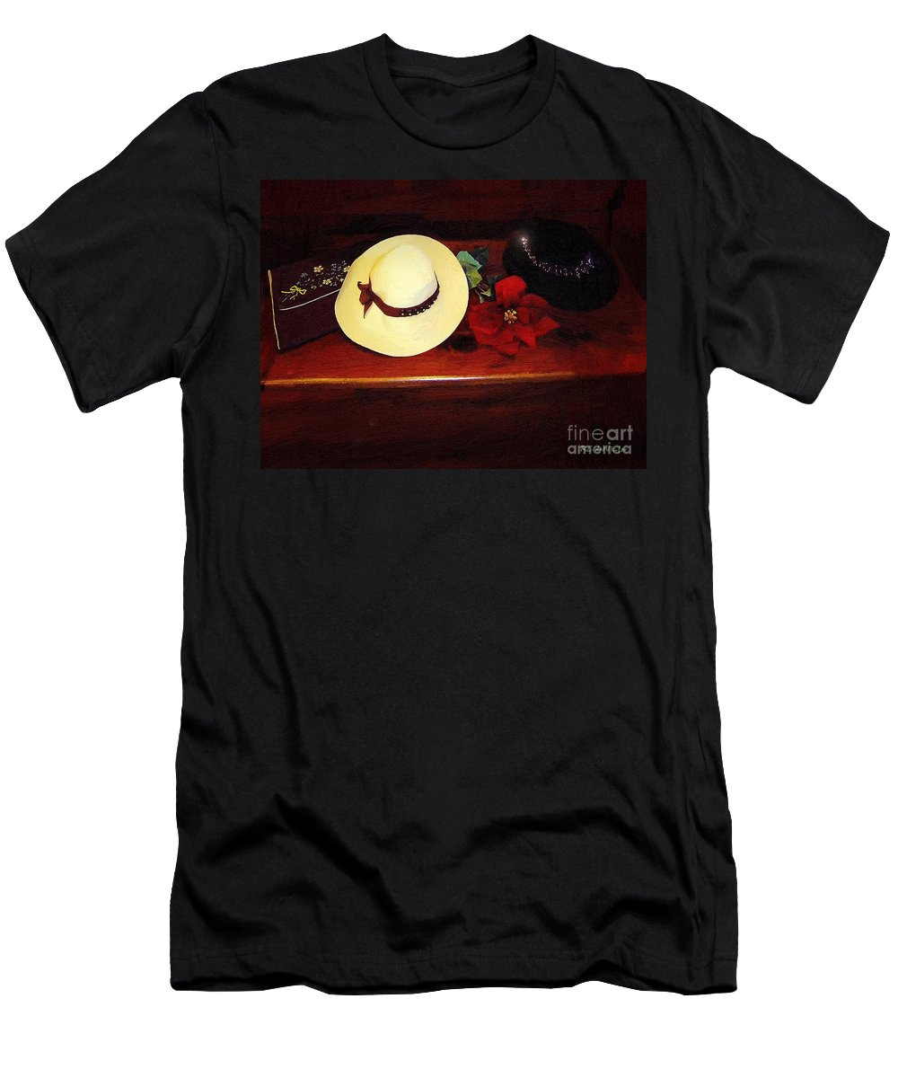 Hats Men's T-Shirt (Athletic Fit) featuring the painting She Loved Hats by RC DeWinter
