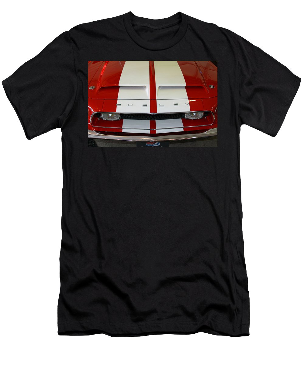 Mustang Men's T-Shirt (Athletic Fit) featuring the photograph Shelby Hood by Shoal Hollingsworth