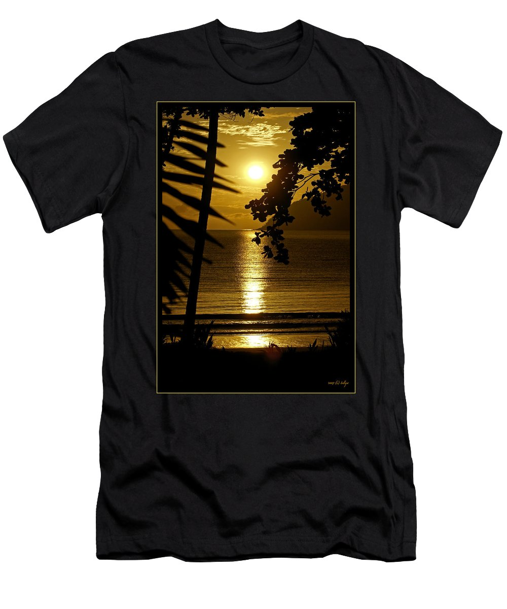 Landscapes Men's T-Shirt (Athletic Fit) featuring the photograph Shimmer by Holly Kempe