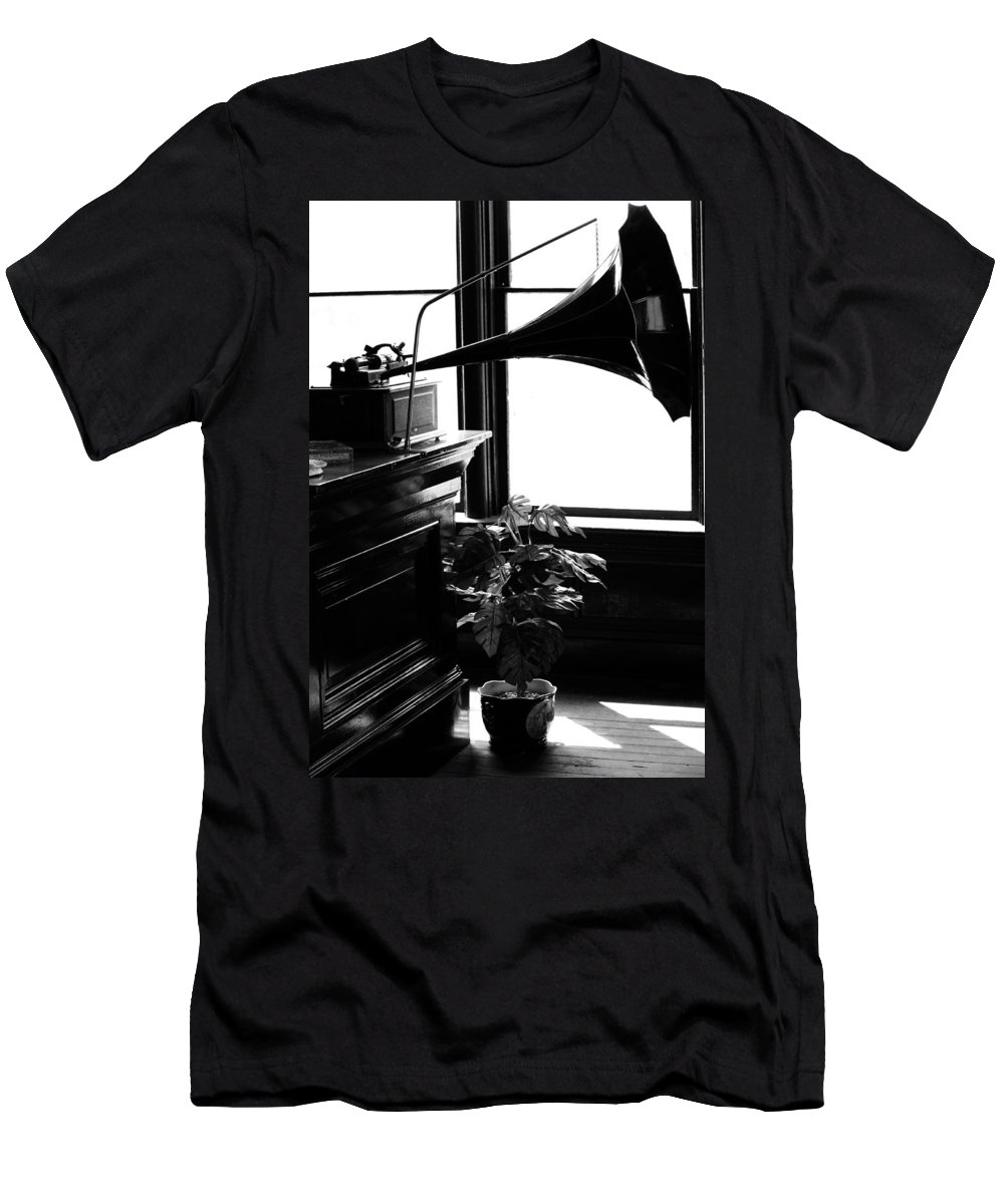 Music Men's T-Shirt (Athletic Fit) featuring the photograph Shine Of Old Tunes by The Artist Project