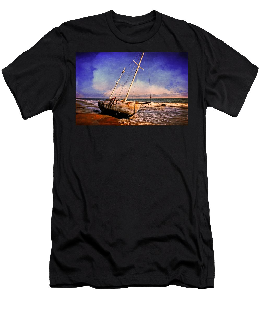 Ship Men's T-Shirt (Athletic Fit) featuring the photograph Shipwrecked by Lynn Bauer