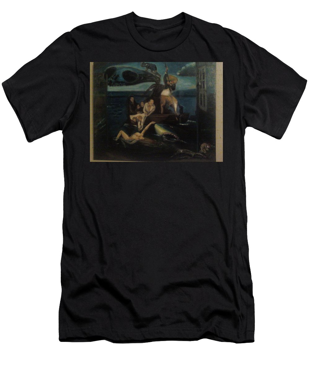 T-Shirt featuring the painting Shipwrecked Psyche Unfinished by Jude Darrien