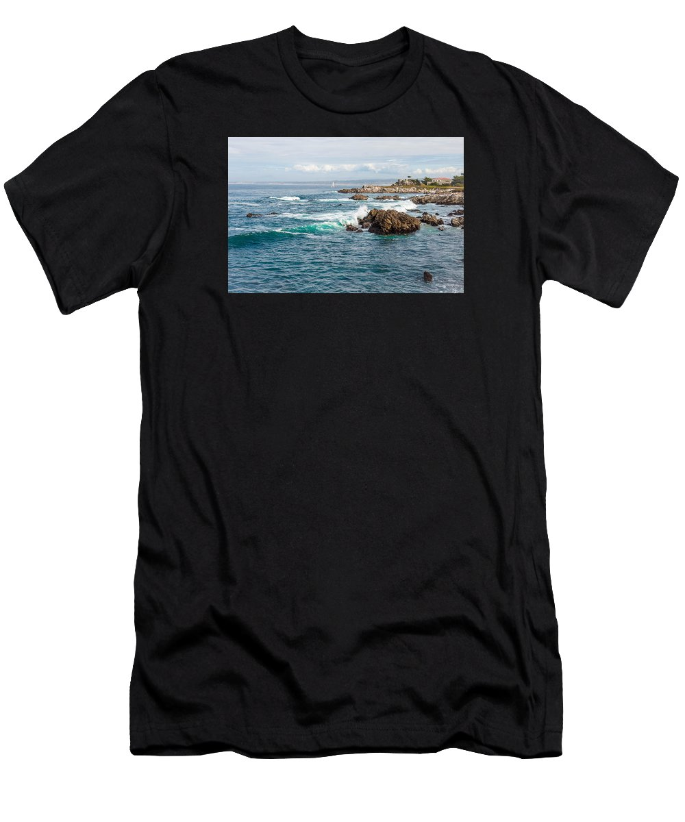 Landscape Men's T-Shirt (Athletic Fit) featuring the photograph Home My Haven by Kausar ali Shakir