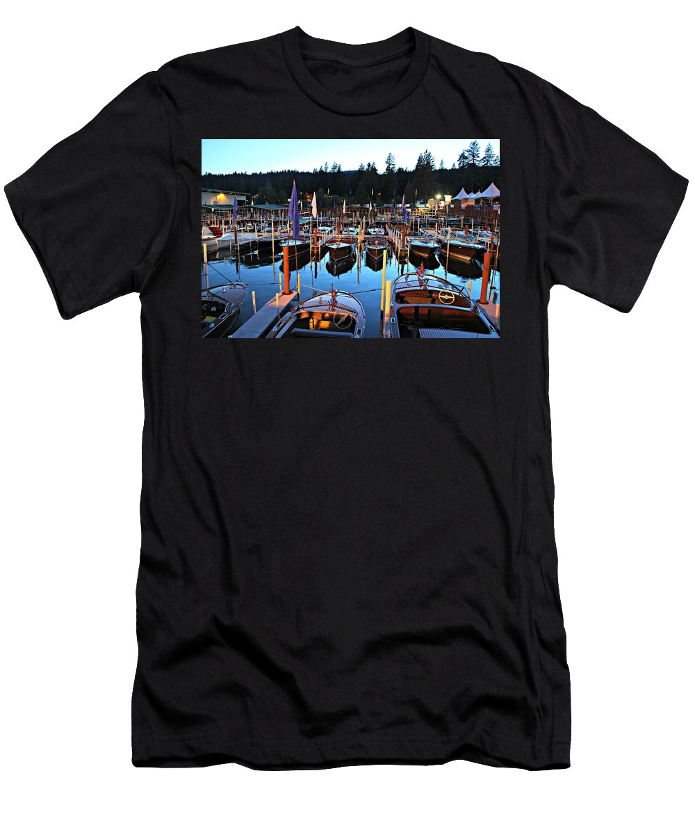 Sierra Boat Company Men's T-Shirt (Athletic Fit) featuring the photograph Sierra Boat Company by Steve Natale
