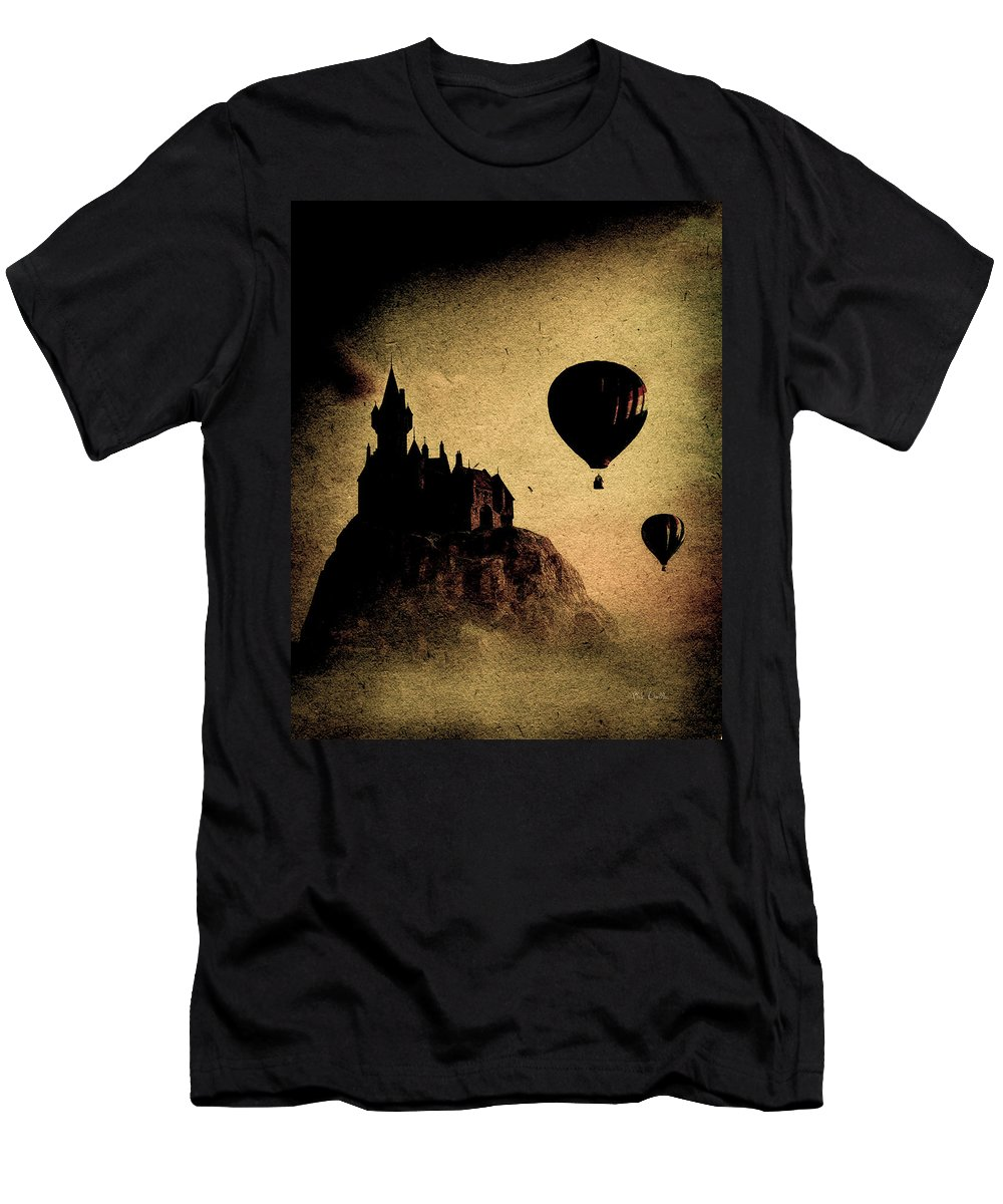 Castle Men's T-Shirt (Athletic Fit) featuring the photograph Silent Journey by Bob Orsillo