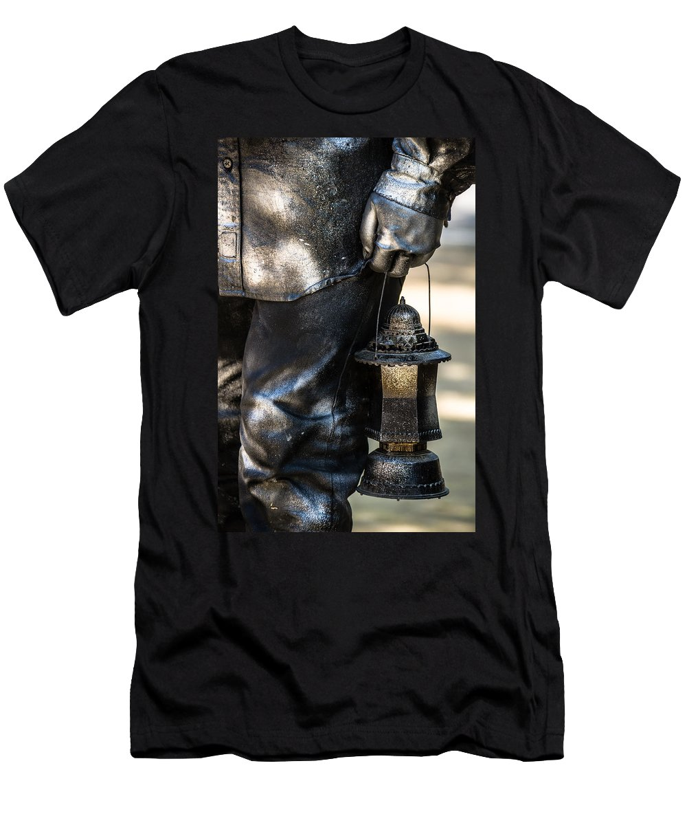 Silent Man Men's T-Shirt (Athletic Fit) featuring the photograph Silent Man II by Sotiris Filippou