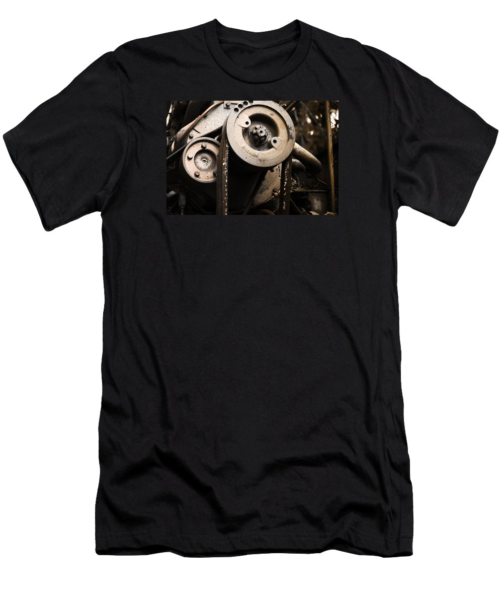 Silent Spinning Men's T-Shirt (Athletic Fit) featuring the photograph Silent Spinning by Rebecca Davis