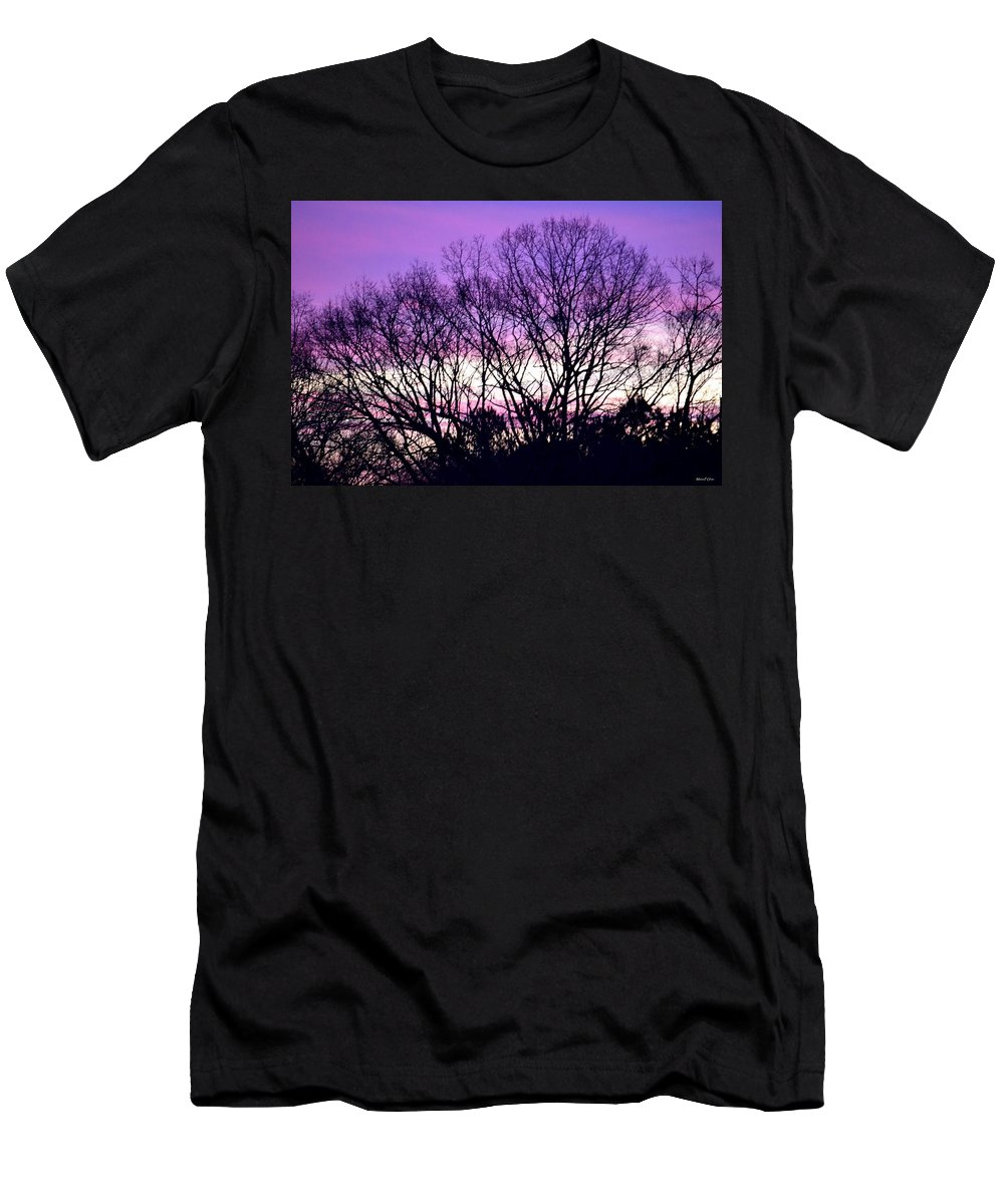 Silhouettes Against Pink Skies Men's T-Shirt (Athletic Fit) featuring the photograph Silhouettes Against Pink Skies by Maria Urso