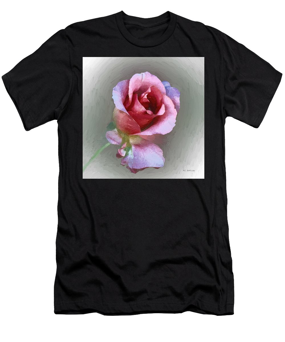 Floral Men's T-Shirt (Athletic Fit) featuring the painting Silk And Satin by RC DeWinter