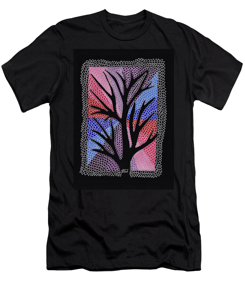 Silver Maple Men's T-Shirt (Athletic Fit) featuring the painting Silver Maple by Barbara St Jean